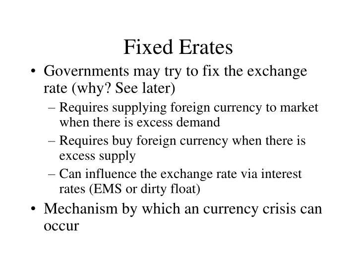 Fixed Erates