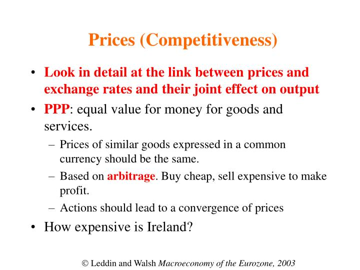 Prices (Competitiveness)
