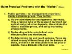 major practical problems with the market cont