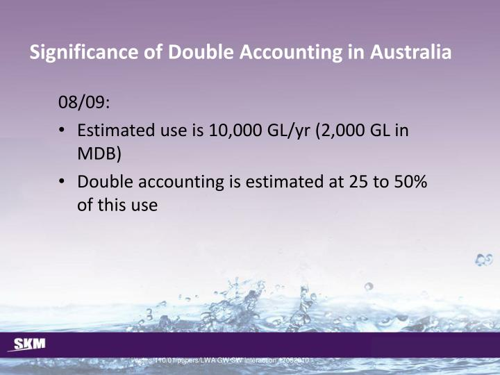 Significance of Double Accounting in Australia