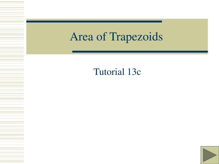 area of trapezoids n.
