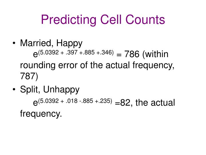 Predicting Cell Counts