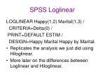 spss loglinear