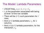 the model lambda parameters