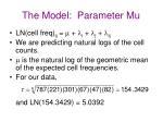 the model parameter mu