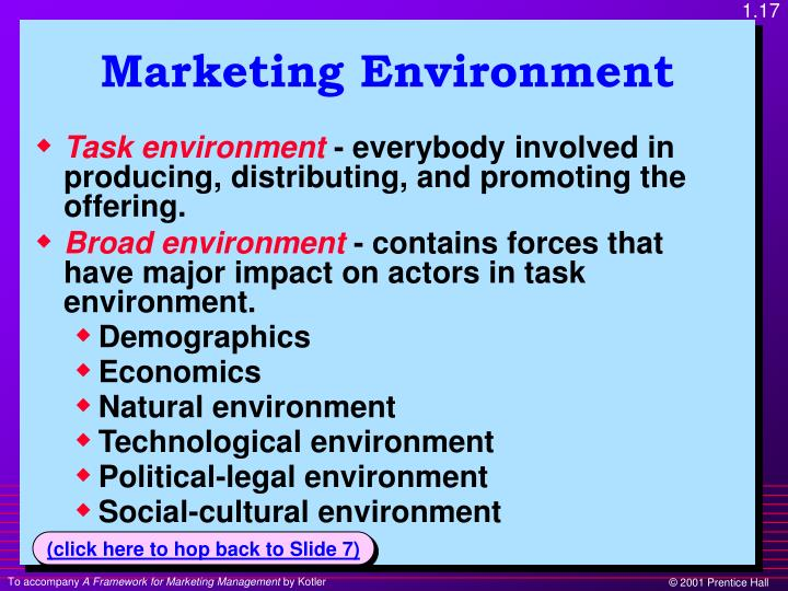 social cultural demographic and environmental forces