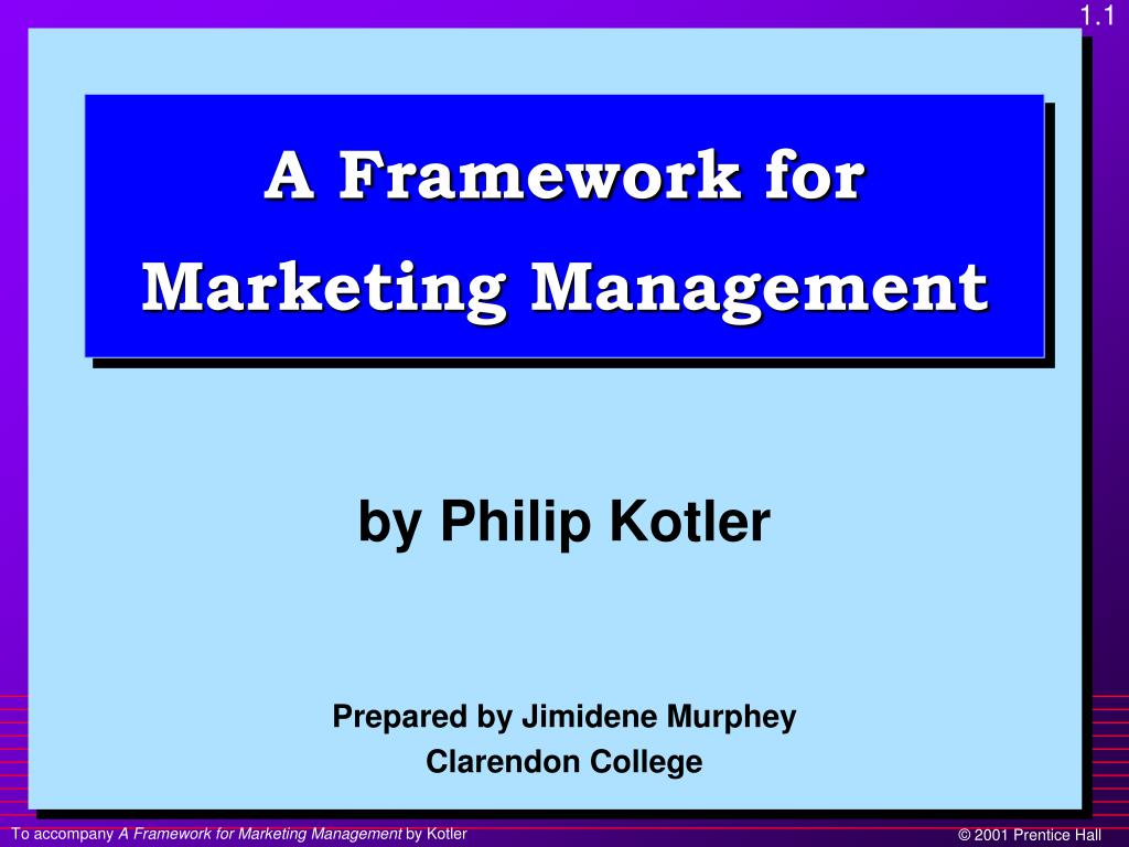 Ppt A Framework For Marketing Management Powerpoint Presentation