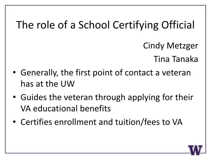 The role of a School Certifying Official