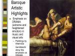 baroque artistic highlights