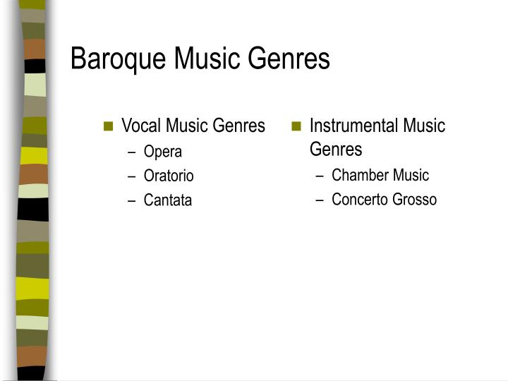 Vocal Music Genres