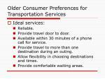 older consumer preferences for transportation services13