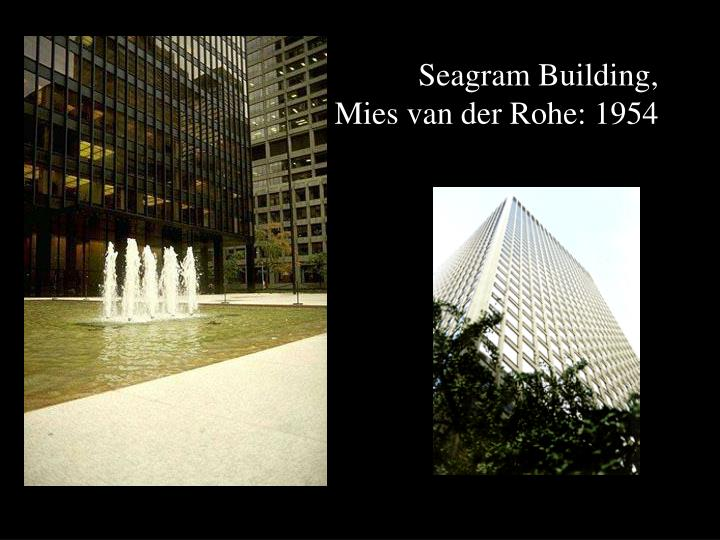 Ppt farnsworth house plano il mies van der rohe 1945 for Seagram building ppt