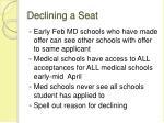 declining a seat