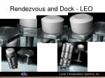 rendezvous and dock leo