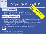 singletop at tev4lhc