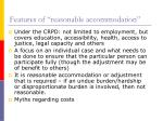 features of reasonable accommodation