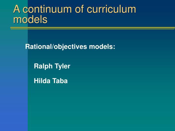 ralph tyler curriculum model