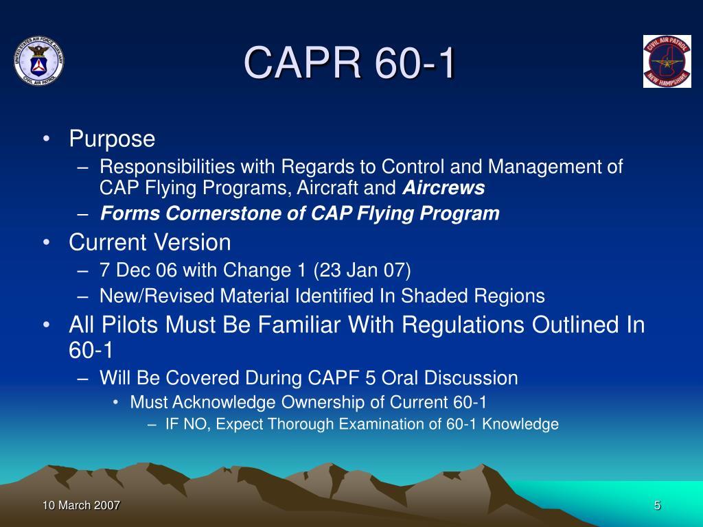 CAPR 60-1