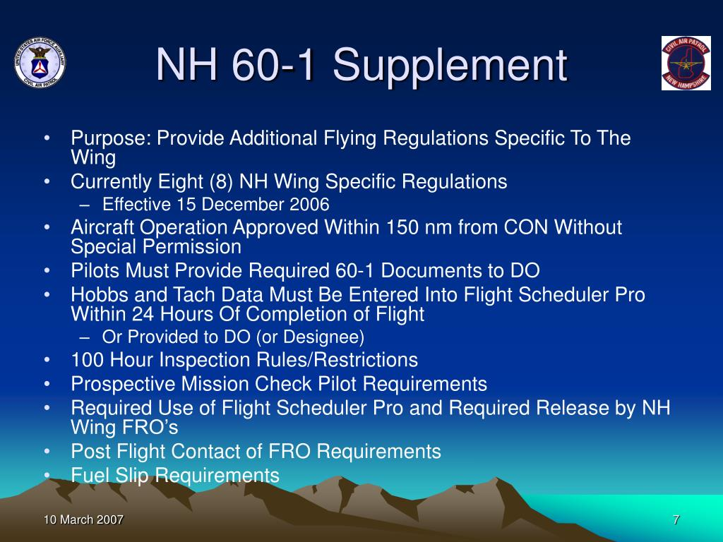 NH 60-1 Supplement