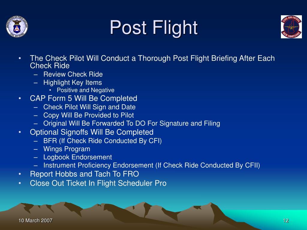 Post Flight