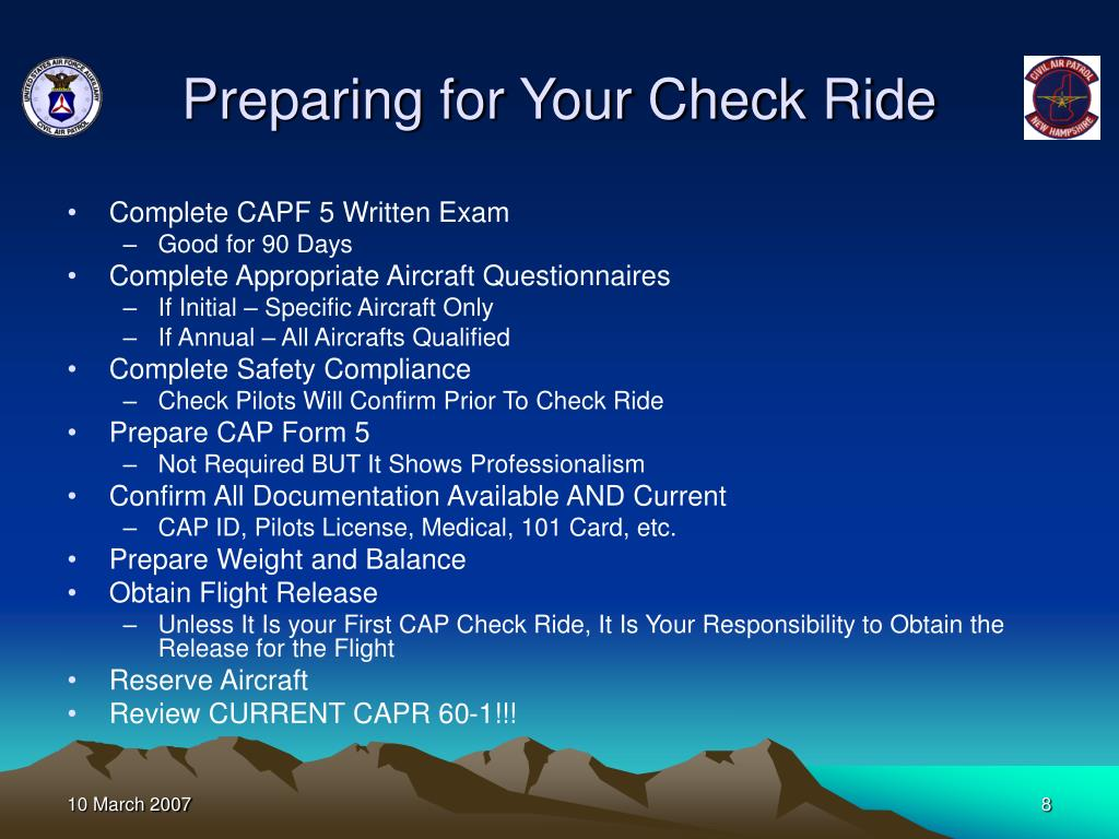 Preparing for Your Check Ride