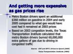 and getting more expensive as gas prices rise