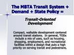 the mbta transit system demand state policy