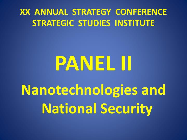 xx annual strategy conference strategic studies institute n.
