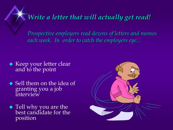 Write a letter that will actually get read!