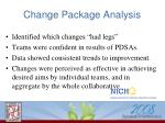 change package analysis