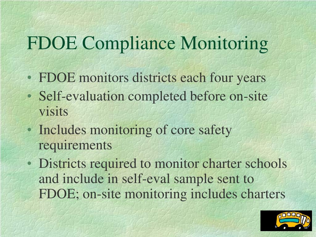 FDOE Compliance Monitoring