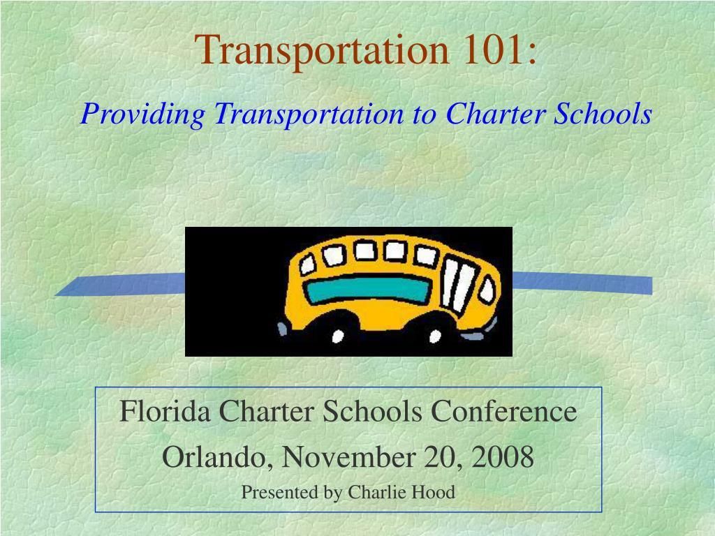 florida charter schools conference orlando november 20 2008 presented by charlie hood l.