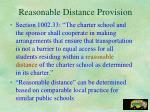 reasonable distance provision