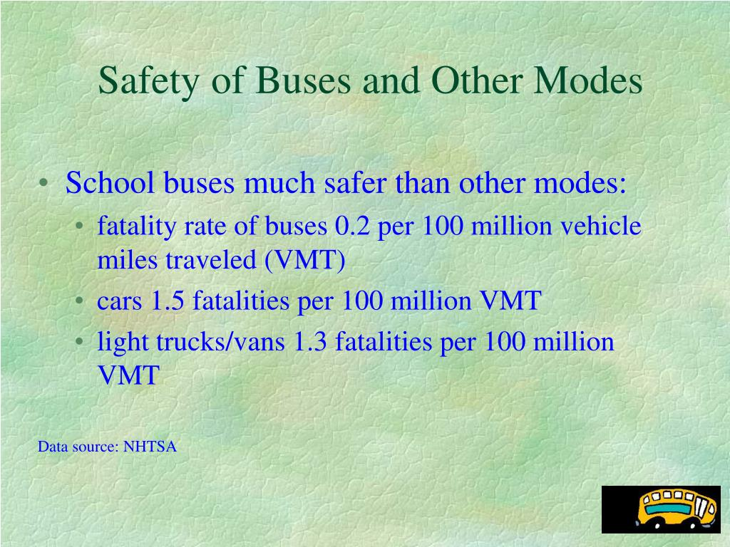 Safety of Buses and Other Modes
