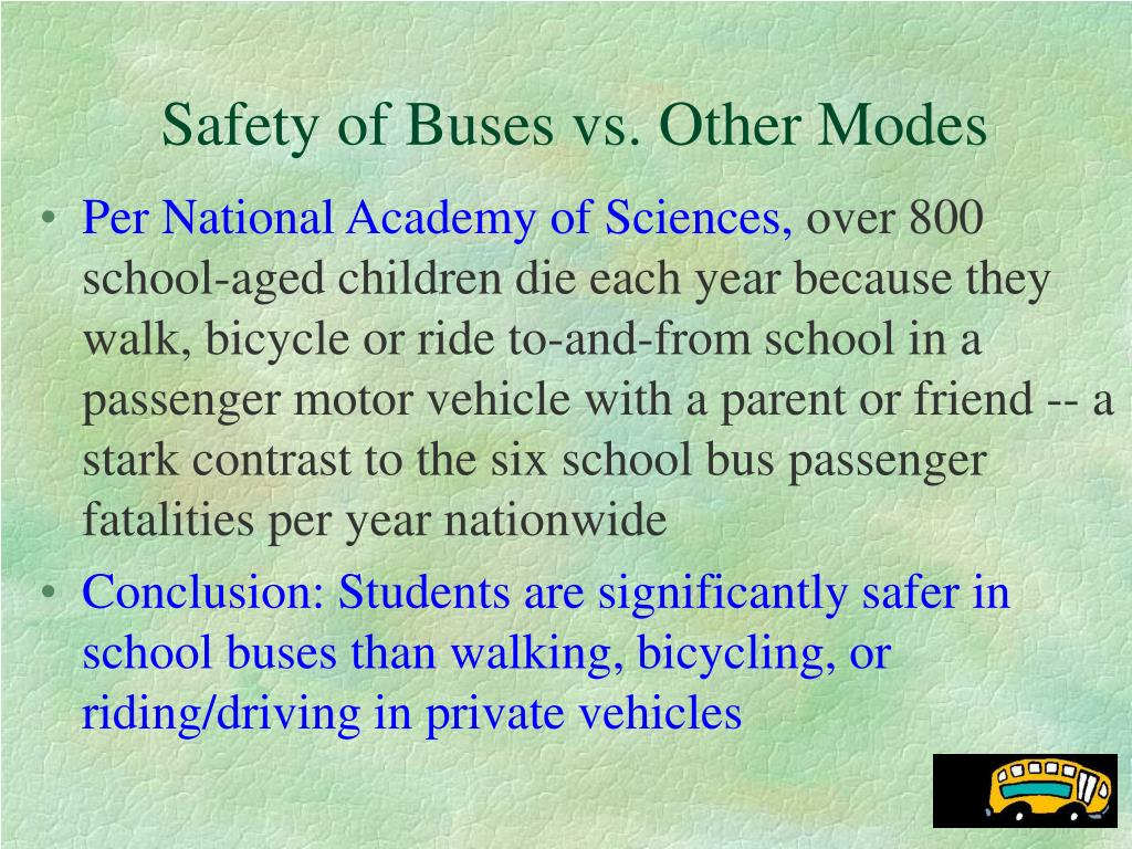 Safety of Buses vs. Other Modes