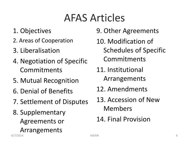AFAS Articles
