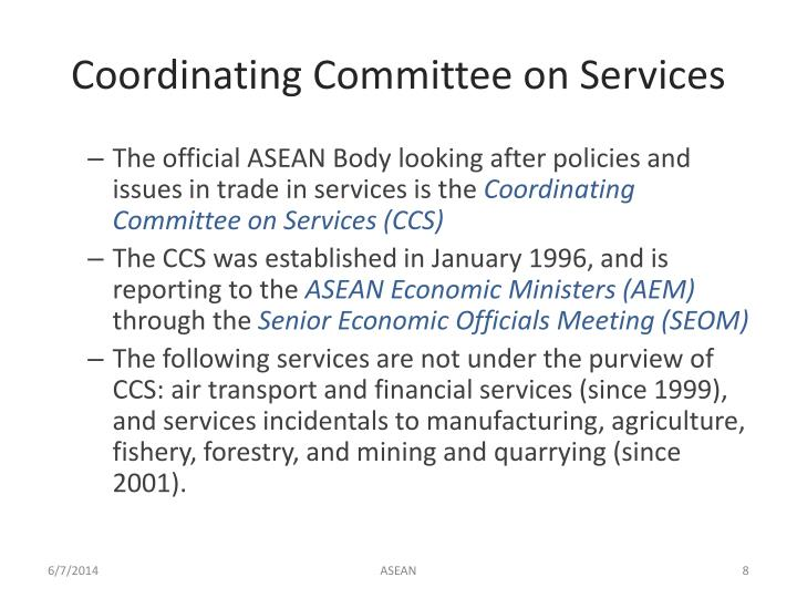 Coordinating Committee on Services