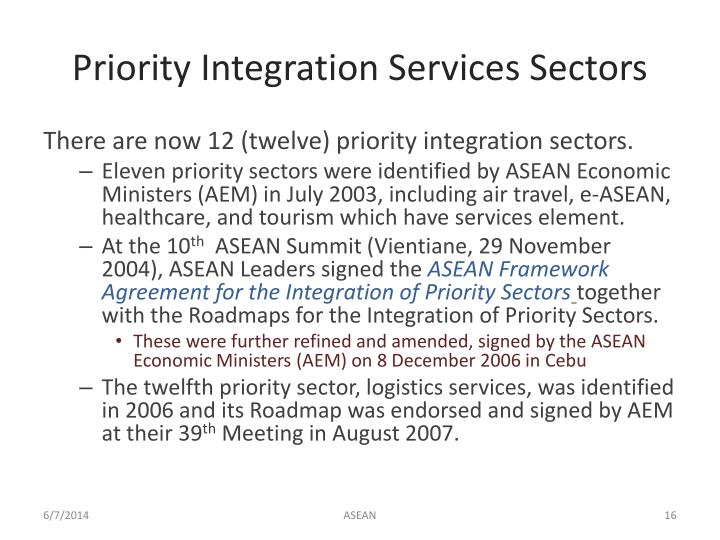 Priority Integration Services Sectors
