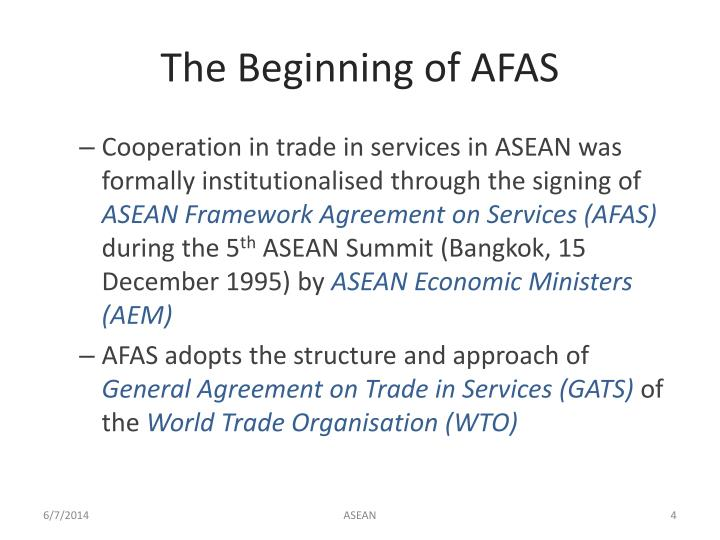 The Beginning of AFAS