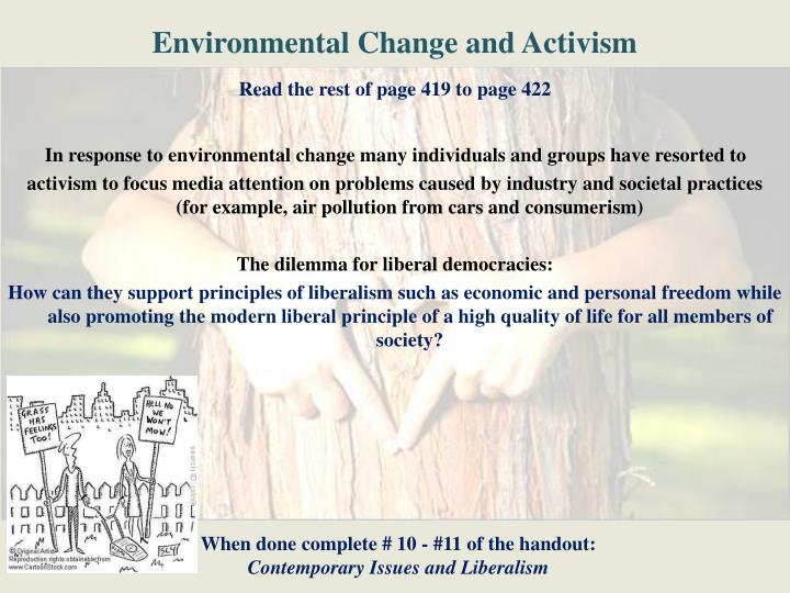 Environmental Change and Activism
