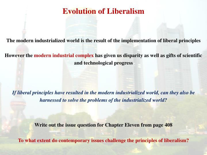 Evolution of liberalism