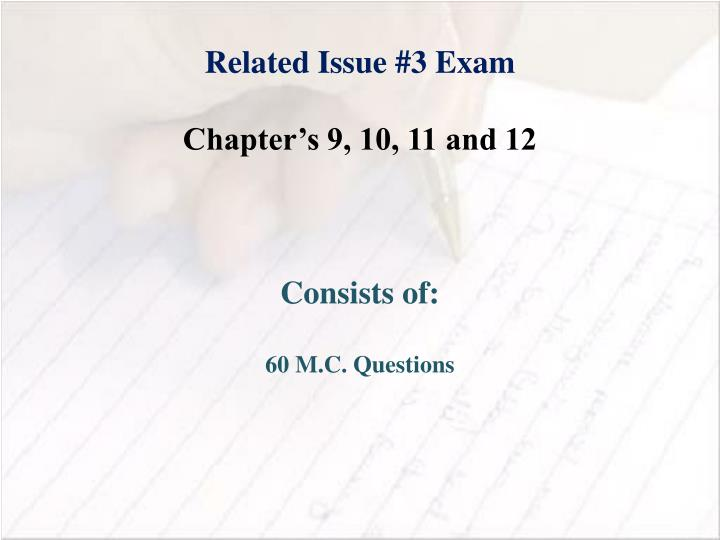 Related Issue #3 Exam