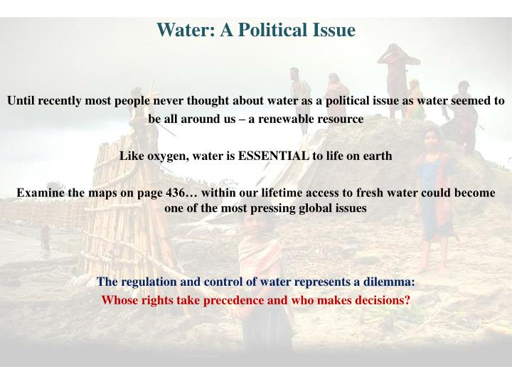 Water: A Political Issue
