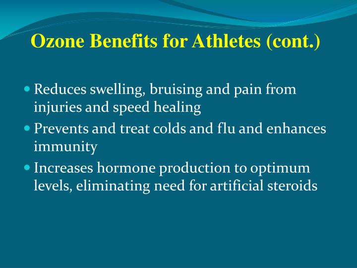 Ozone Benefits for Athletes (cont.)