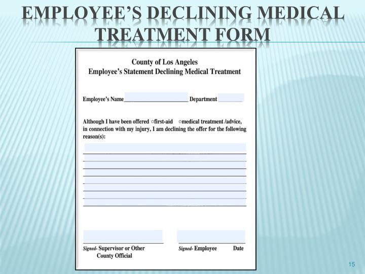 Employee's declining medical