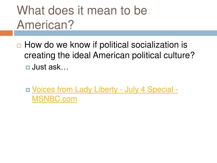 what does political socialization mean