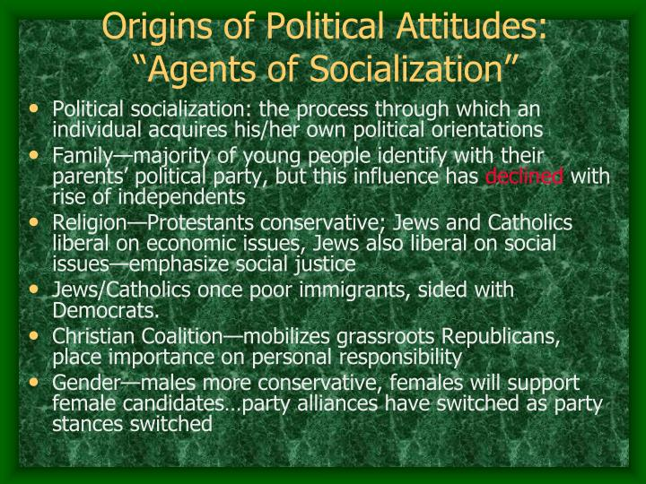 factors of socialization