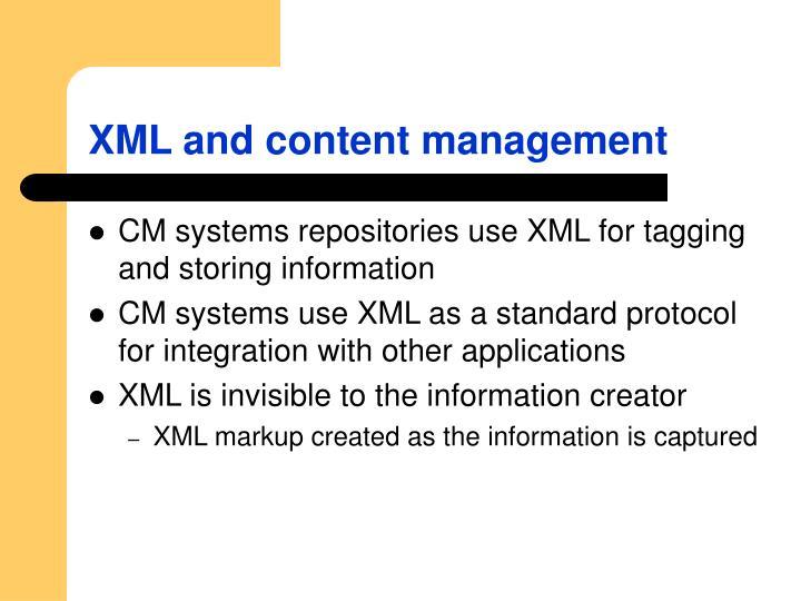 XML and content management