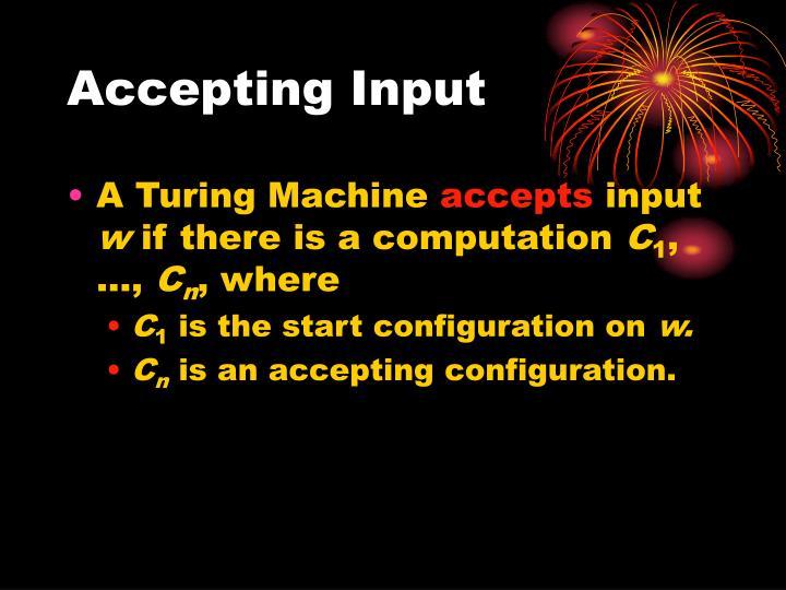 Accepting Input