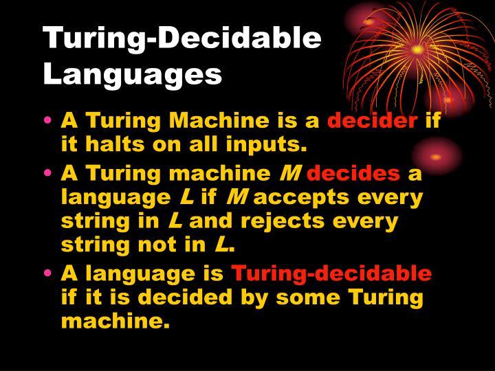 Turing-Decidable Languages